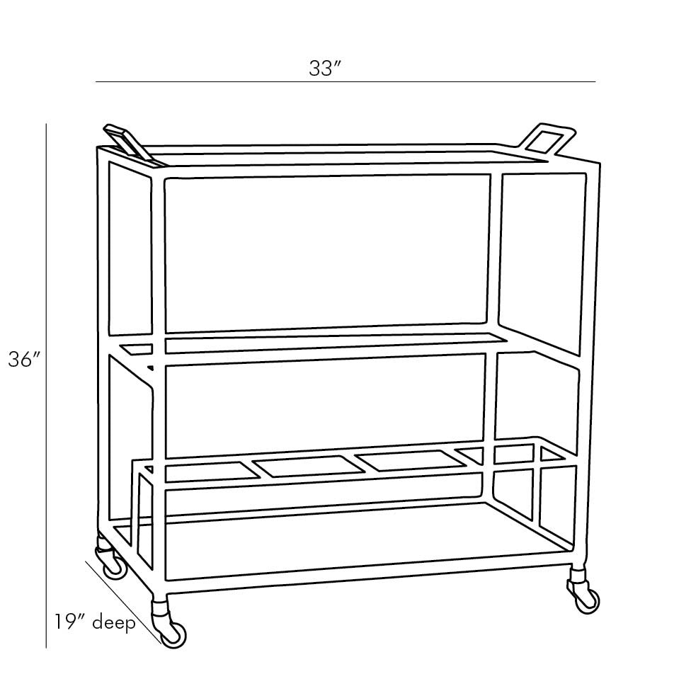 Jak Bar Cart - Graphite - Grats Decor Interior Design & Build Inc.