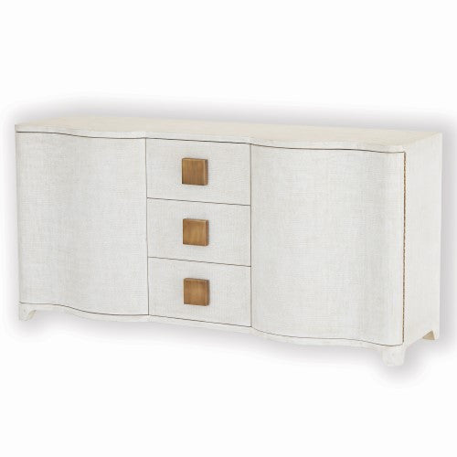 "Studio A Toile 66""W Linen Credenza - Grats Decor Interior Design & Build, Inc.  - 1"