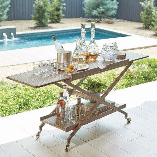 Campaign Bar Cart - Grats Decor Interior Design & Build Inc.