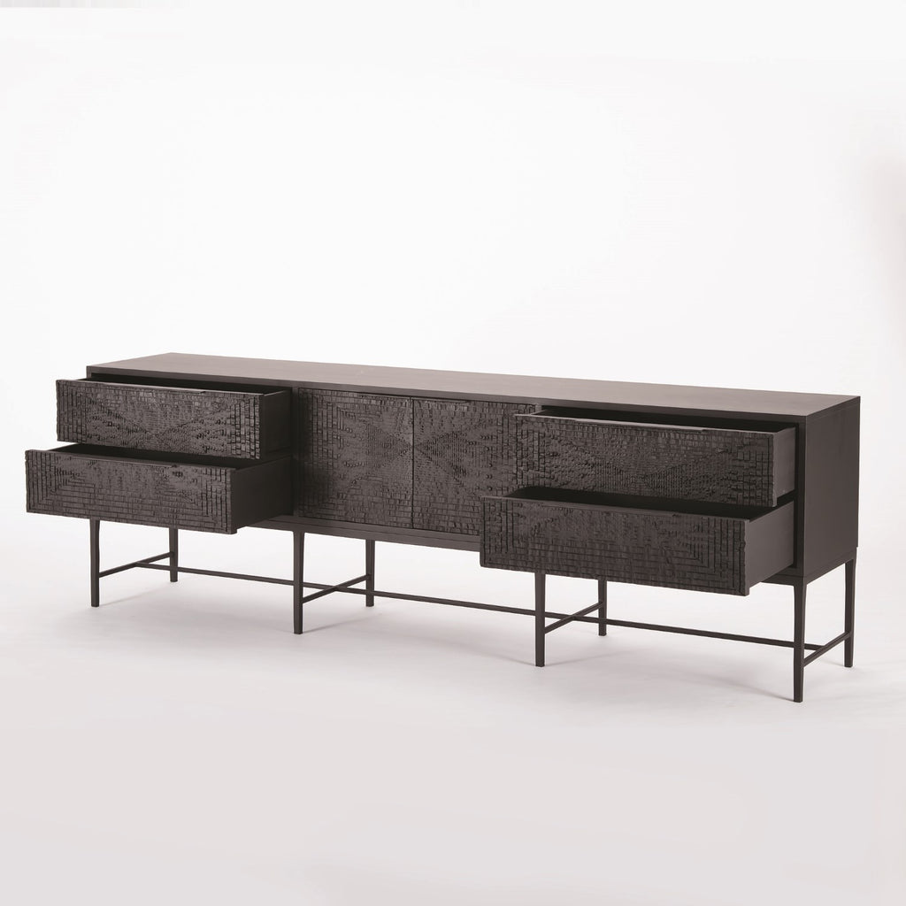 "Kyoto 86"" Media Cabinet - Grats Decor Interior Design & Build Inc."