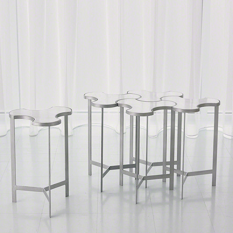 Link Bunching Table (Set of 5) - Silver - Grats Decor Interior Design & Build Inc.