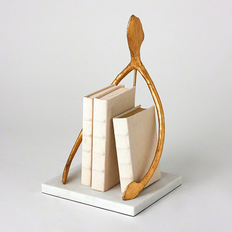 Wish Sculpture - Gold Leaf & White Marble Base
