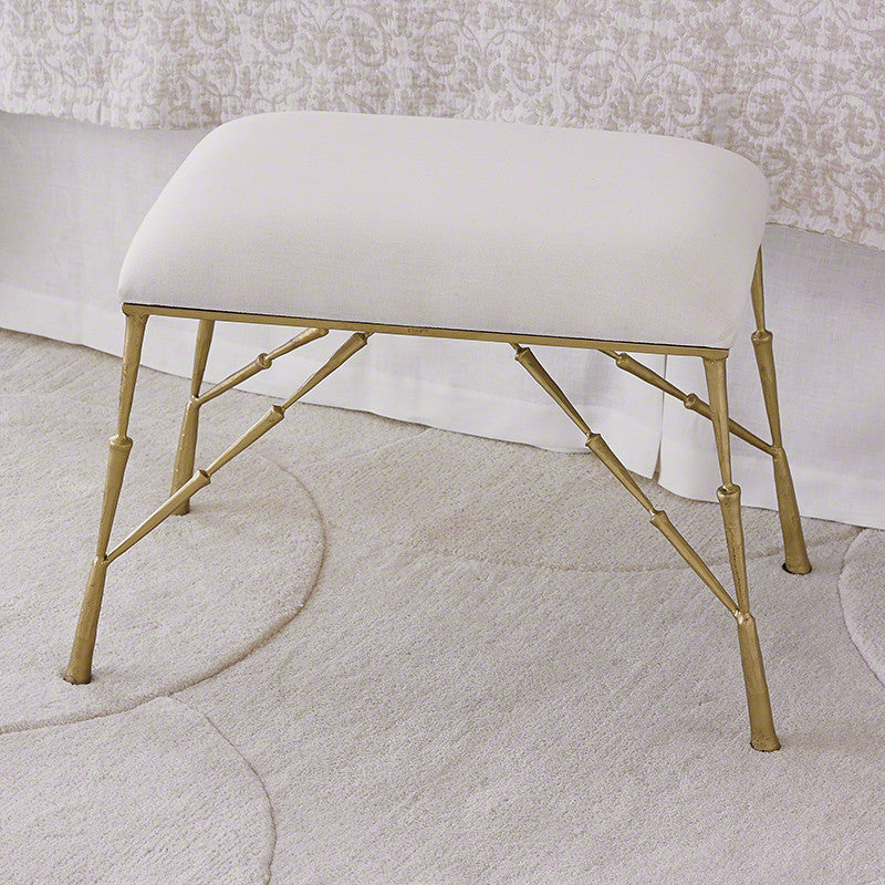 Spike Bench with Muslin Cushion - Grats Decor Interior Design & Build Inc.