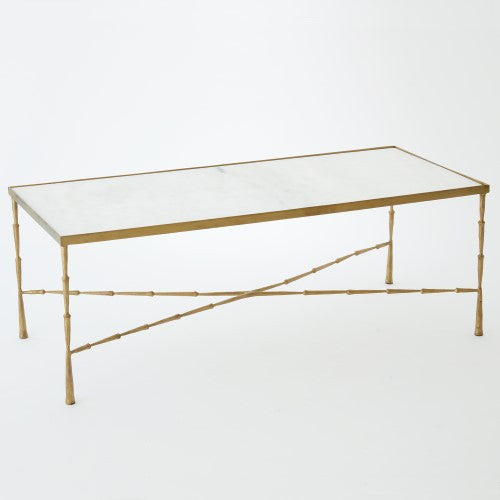 Spike Cocktail Table - Brass - Grats Decor Interior Design & Build Inc.