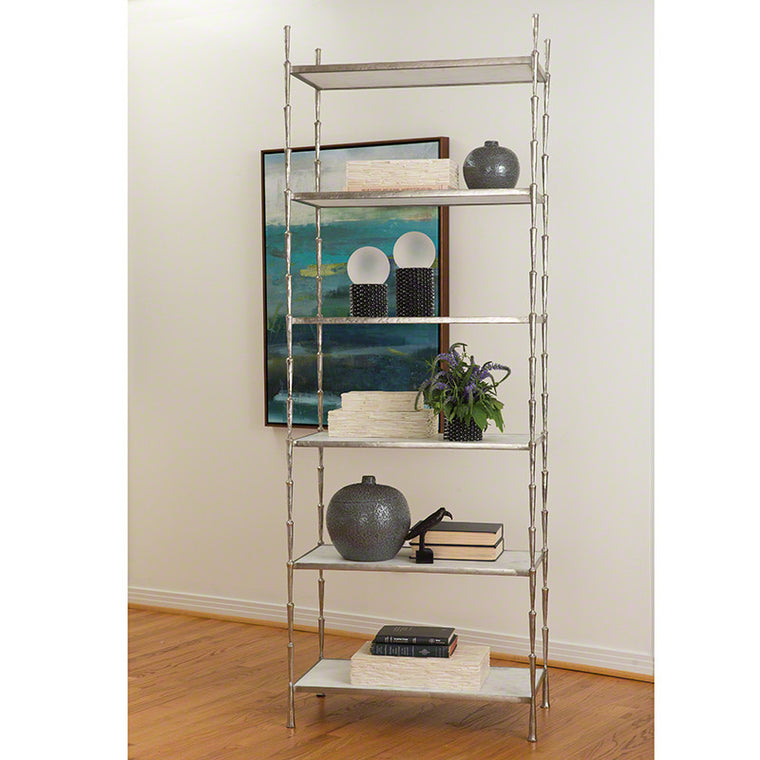 "Spike 29""W x 80""H Etagere - Antique Nickel - Grats Decor Interior Design & Build Inc."