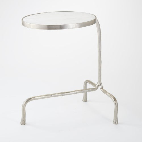 "Cantilever 19"" x 15"" Table - Nickel - Grats Decor Interior Design & Build Inc."