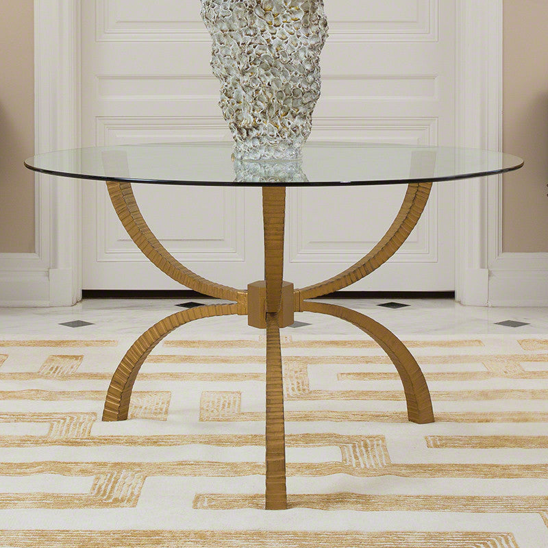 "Teton 48""/60"" Dining Table - Gold - Grats Decor Interior Design & Build Inc."