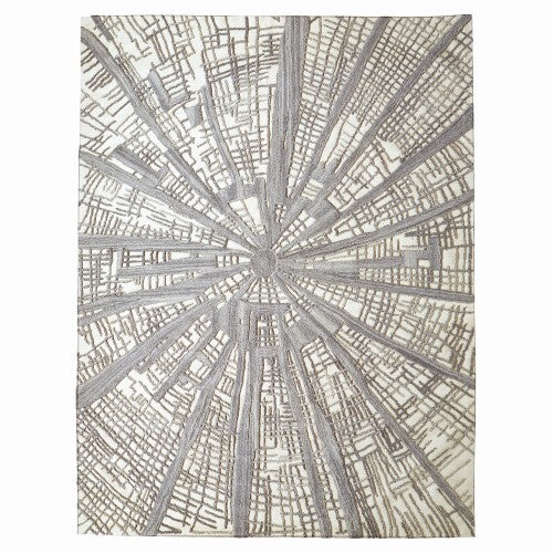 Vortex Rug - Ivory/Natural/Grey - 4 Sizes
