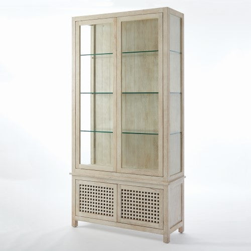 "Driftwood 48""W x 94""H Vitrine - Whitewashed - Grats Decor Interior Design & Build Inc."