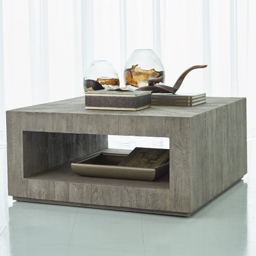 "Driftwood 38"" Coffee Table - Grey - Grats Decor Interior Design & Build Inc."
