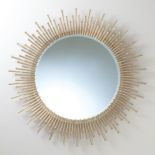 "Spike 42"" Mirror - Antique Brass"