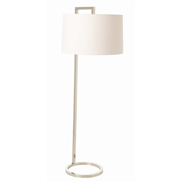 Belden Floor Lamp - Polished Nickel - Grats Decor Interior Design & Build Inc.