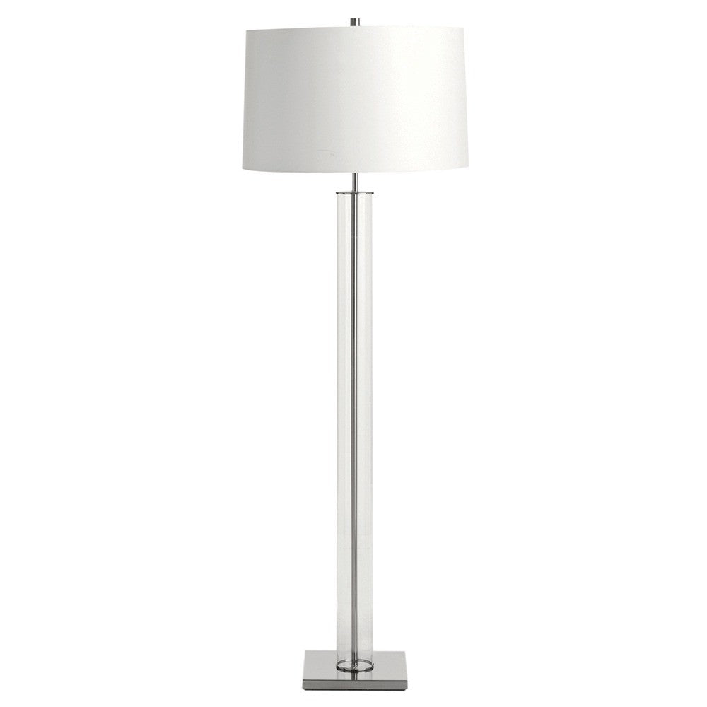 "Norman 69""H Floor Lamp - Polished Nickel - Grats Decor Interior Design & Build Inc."