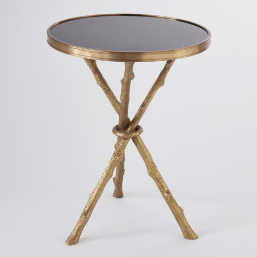 "Lola 17""Dia Table - Brass & Black Granite - Grats Decor Interior Design & Build, Inc.  - 1"
