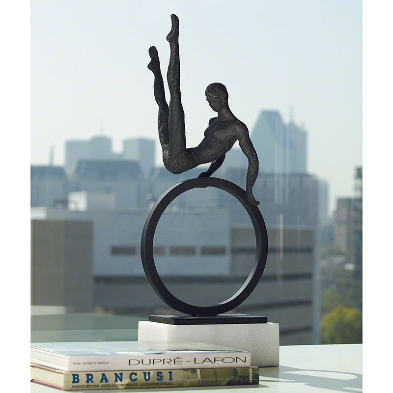 "Gymnast Man 25""H Sculpture - Grats Decor Interior Design & Build Inc."
