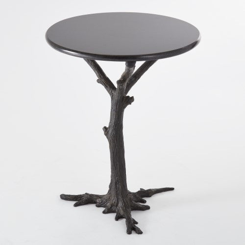 "Faux Bois 17""Dia Side Table - Black - Grats Decor Interior Design & Build, Inc.  - 1"
