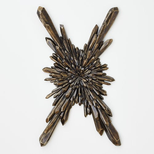Facet Starburst-Bronze-Wall Mounted