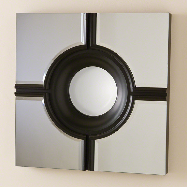 Bull's Eye Cross Mirror - Black - Grats Decor Interior Design & Build Inc.
