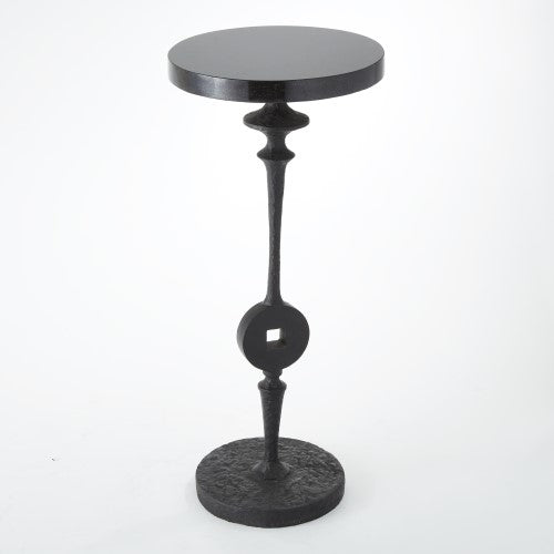 "Artisan Square Peg 12""Dia Accent Table - Grats Decor Interior Design & Build Inc."