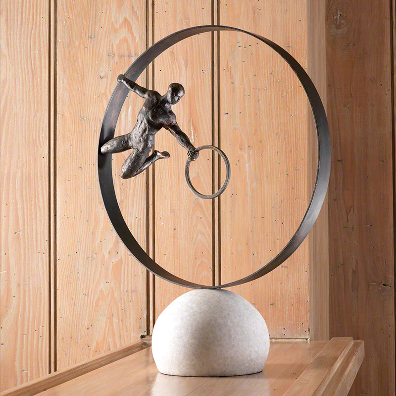 "Circle in Circle 24""H Sculpture - Grats Decor Interior Design & Build Inc."