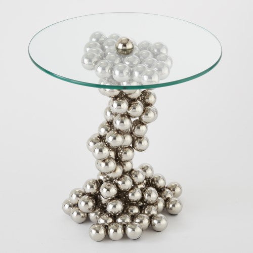 "Sphere 20""Dia Side Table - Chrome - Grats Decor Interior Design & Build Inc."