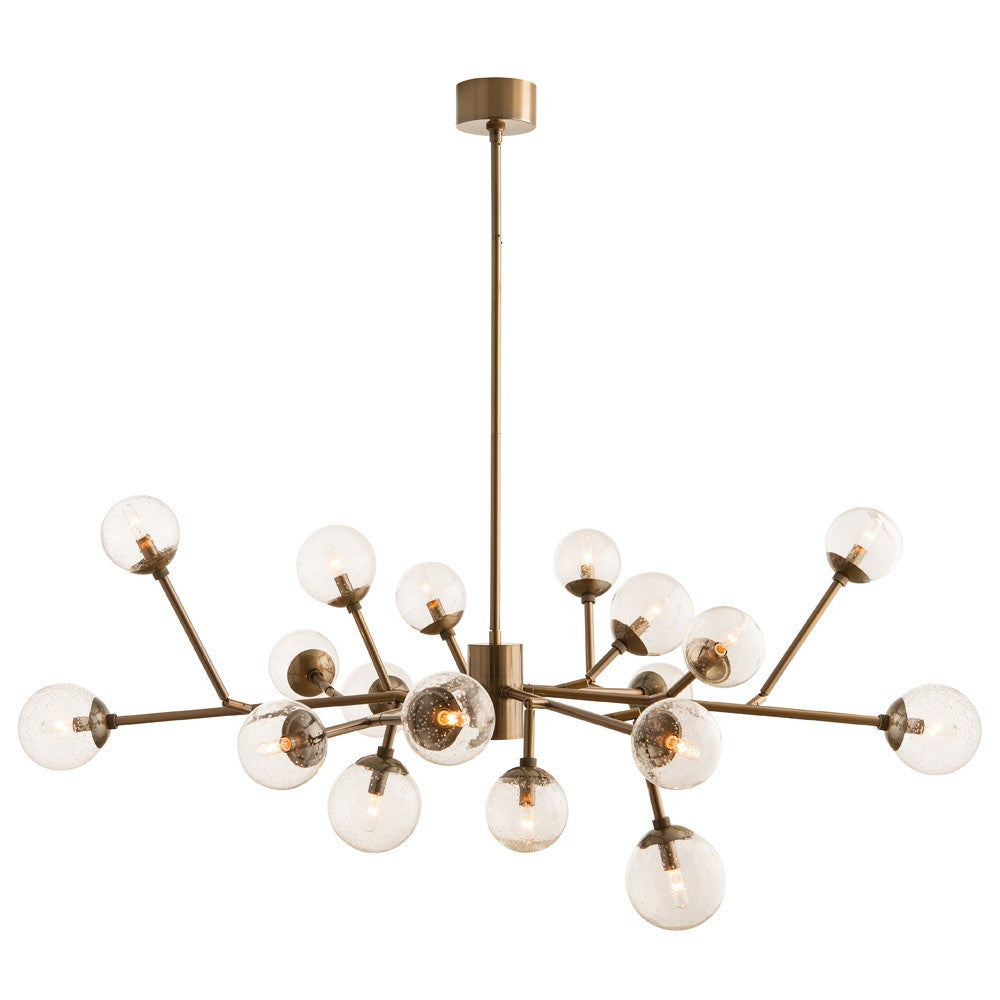 "Dallas 58""W Chandelier - Vintage Brass - Grats Decor Interior Design & Build Inc."