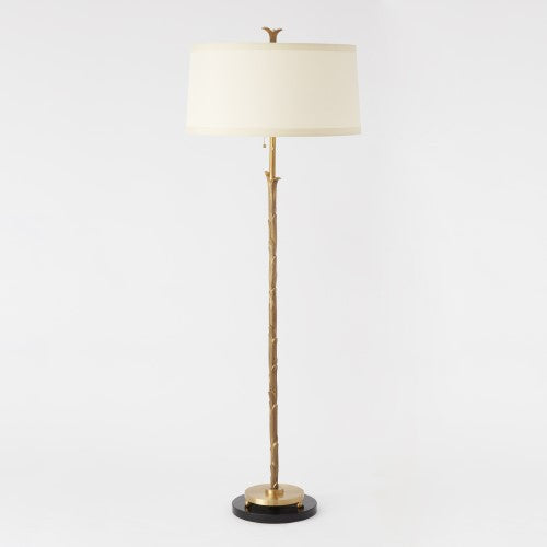 Organic Floor Lamp - Antique Brass Finish