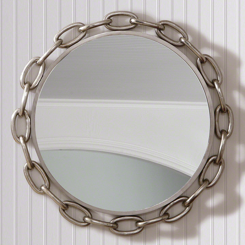 "Linked 40""Dia Mirror-Nickel - Grats Decor Interior Design & Build Inc."