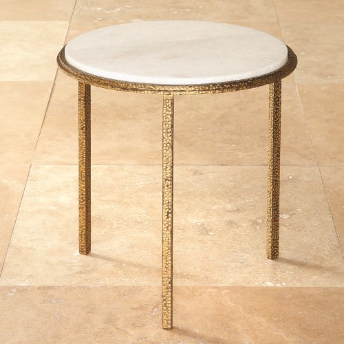 "Hammered Gold 16""Dia Round Table"