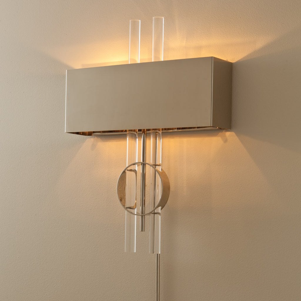 Radio City Electrified Wall Sconce - Nickel - Grats Decor Interior Design & Build Inc.