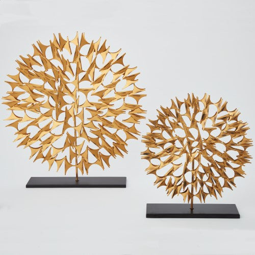 Cosmos Sculpture - Gold - 2 sizes - Grats Decor Interior Design & Build Inc.