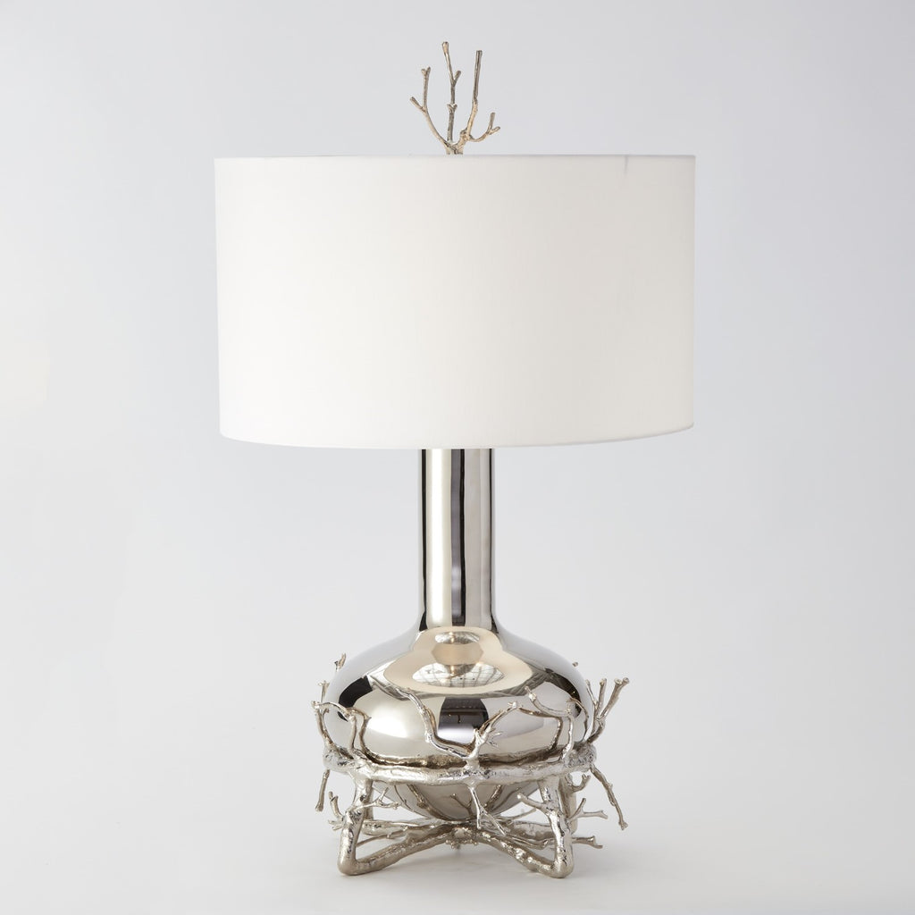 Fat Nickel Twig Table Lamp - Grats Decor Interior Design & Build Inc.