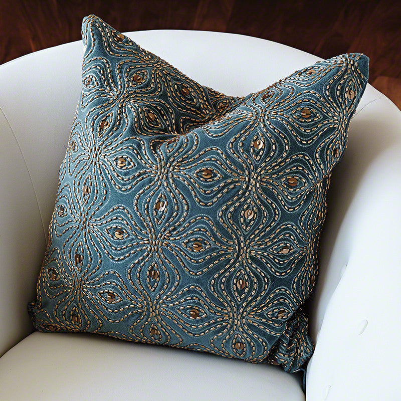 "Encrusted Petal 20"" Pillow - Grats Decor Interior Design & Build Inc."