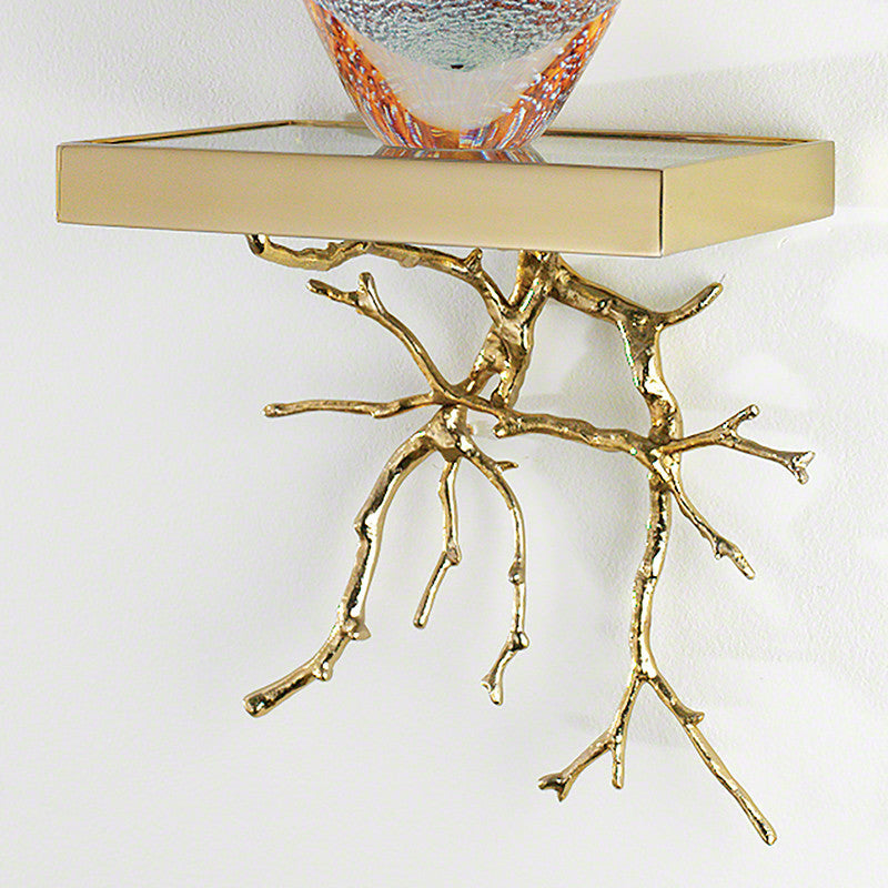 Twig Wall Bracket-Brass - Grats Decor Interior Design & Build Inc.