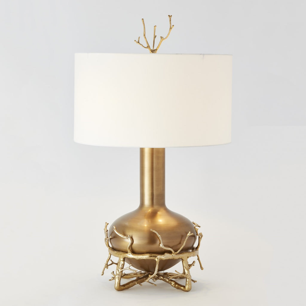 Fat Brass Twig Table Lamp - Grats Decor Interior Design & Build Inc.