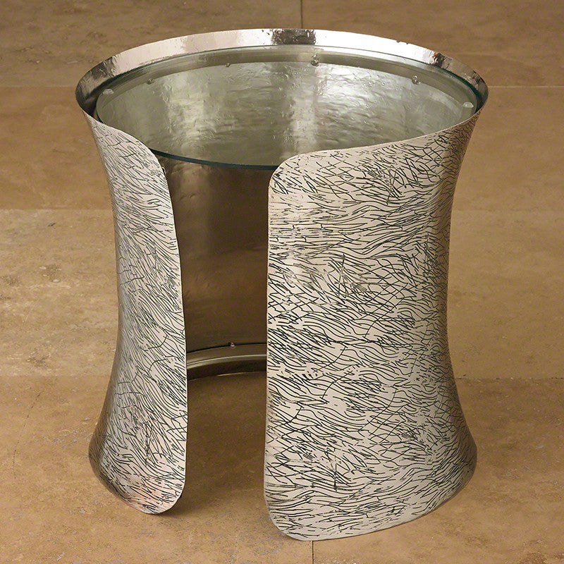 "Cuff 18""Dia Side Table - Nickel - Grats Decor Interior Design & Build, Inc.  - 3"