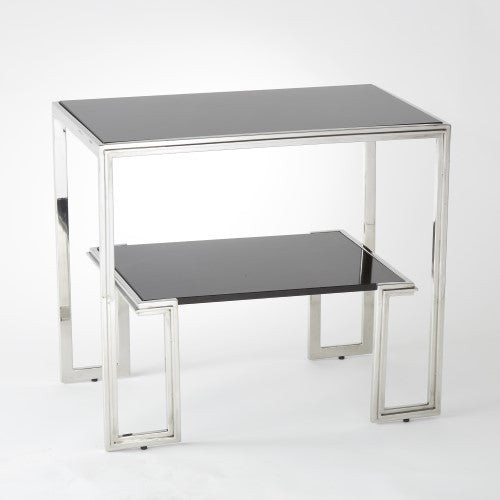 "One-Up 28"" SideTable - Stainless Steel - Grats Decor Interior Design & Build Inc."