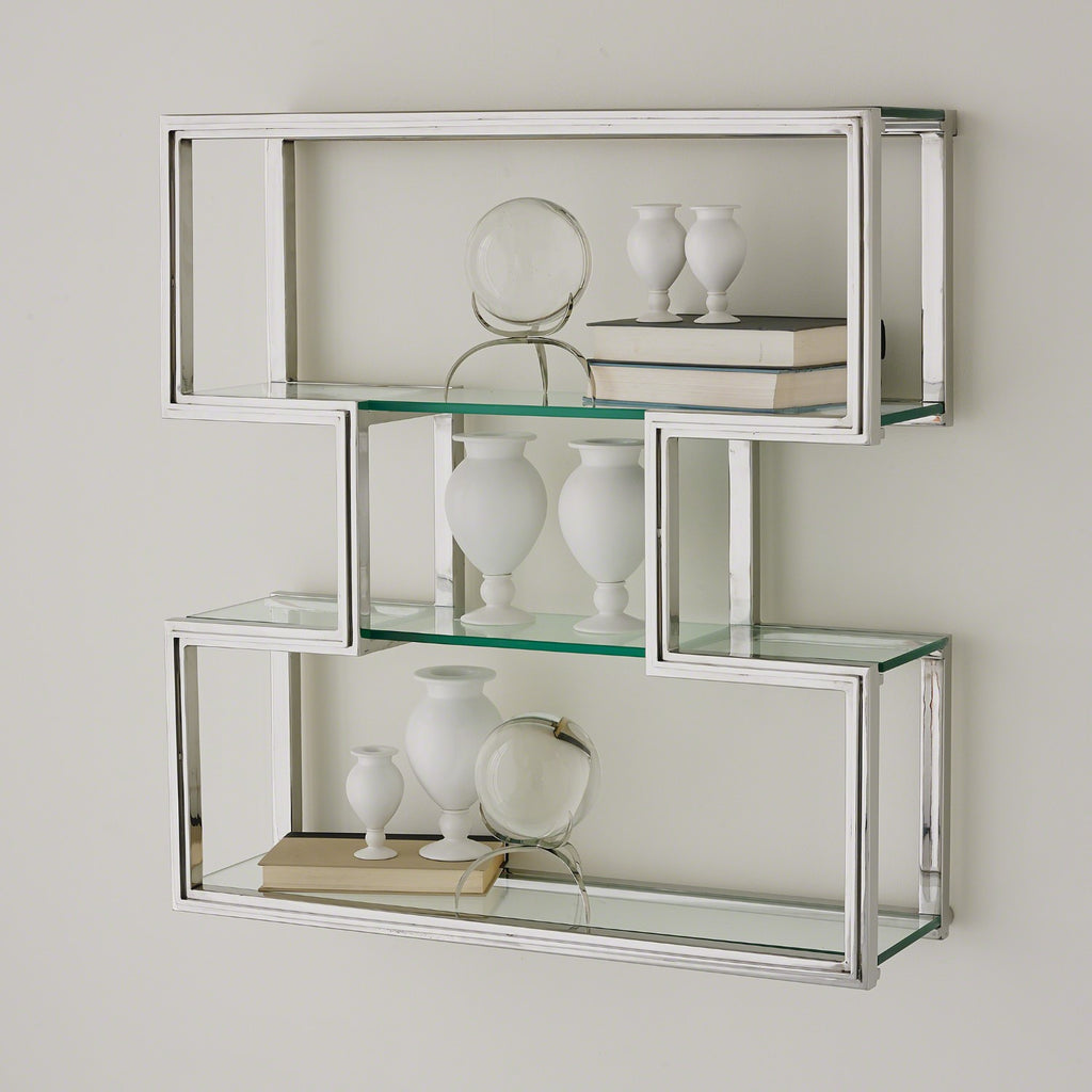 One Up Wall Shelf - Stainless Steel - Grats Decor Interior Design & Build Inc.