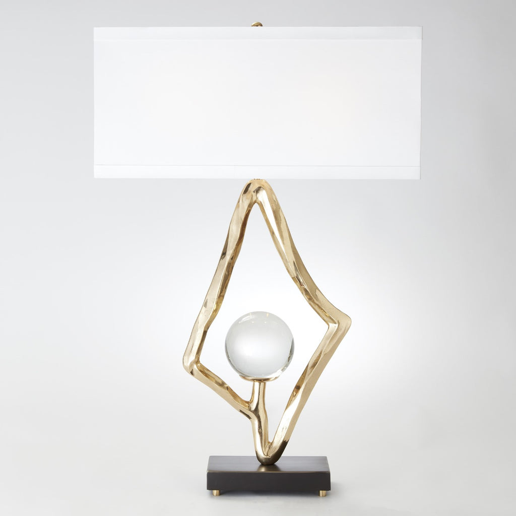 Abstract Table Lamp - Brass - Grats Decor Interior Design & Build Inc.