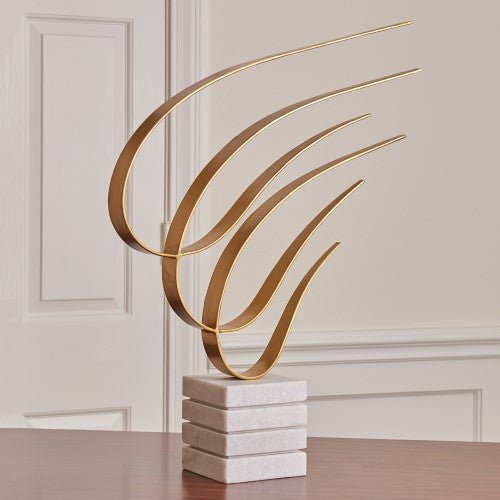 "Swoosh 30"" Sculpture - Gold"
