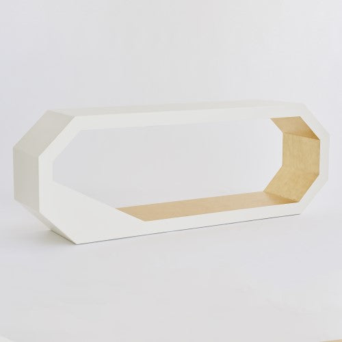 "Facet 90"" Console - Gold Leaf"