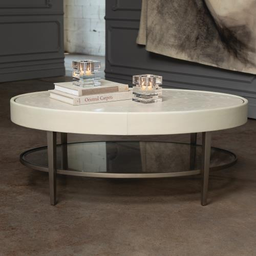 Ellipse Cocktail Table - Ivory