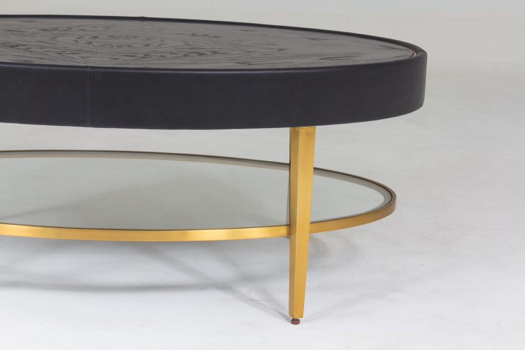 Ellipse Cocktail Table - Ebony - Grats Decor Interior Design & Build Inc.