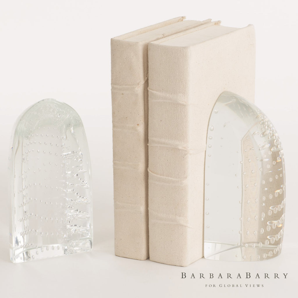 Barbara Barry Iceberg Bookends - Dewdrop Clear - Grats Decor Interior Design & Build Inc.