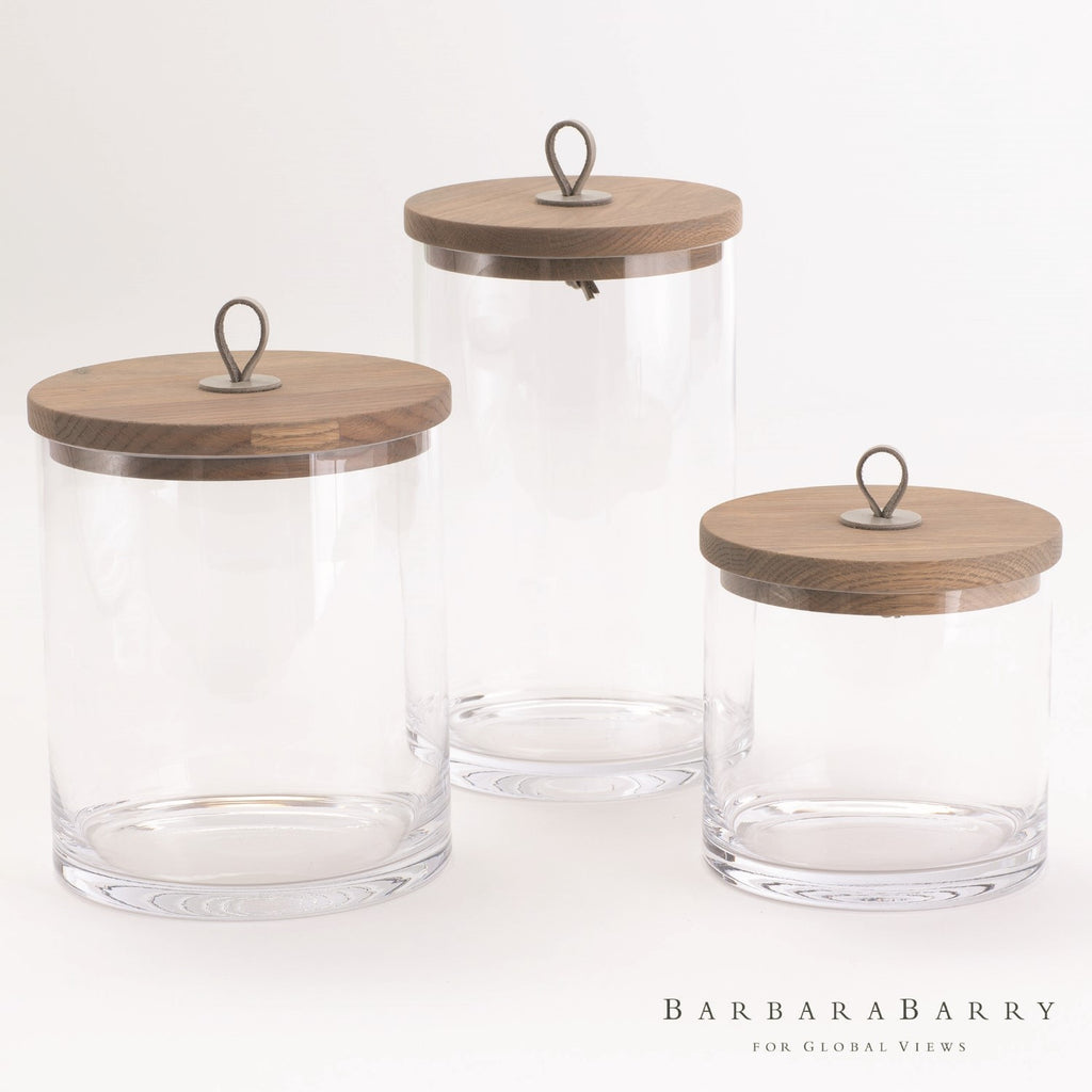 Barbara Barry S/3 Rustic Canisters - Grats Decor Interior Design & Build Inc.