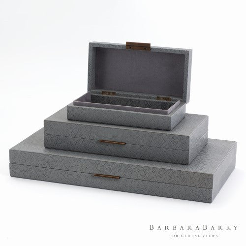 Barbara Barry Alpen Box-Blau-3 sizes - Grats Decor Interior Design & Build Inc.