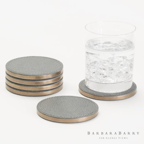 Barbara Barry S/6 Alpen Coasters-Blau - Grats Decor Interior Design & Build Inc.