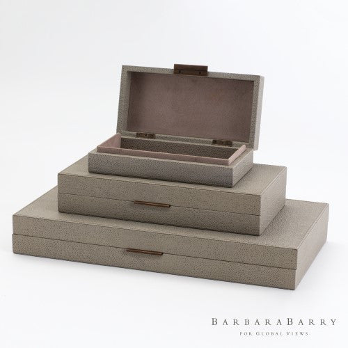 Barbara Barry Alpen Box-Bark-3 sizes - Grats Decor Interior Design & Build Inc.