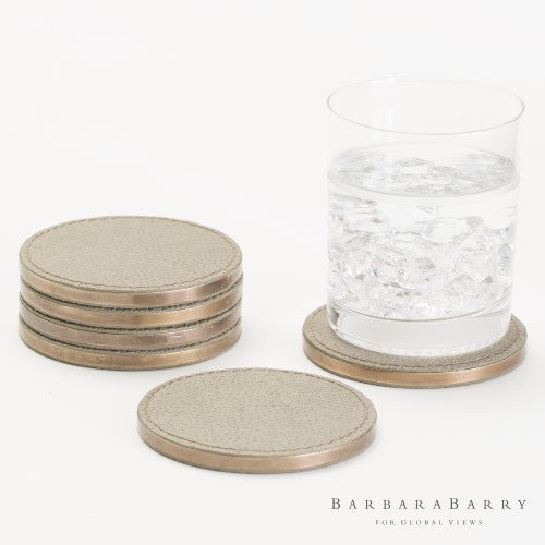 Barbara Barry S/6 Alpen Coasters-Bark - Grats Decor Interior Design & Build Inc.