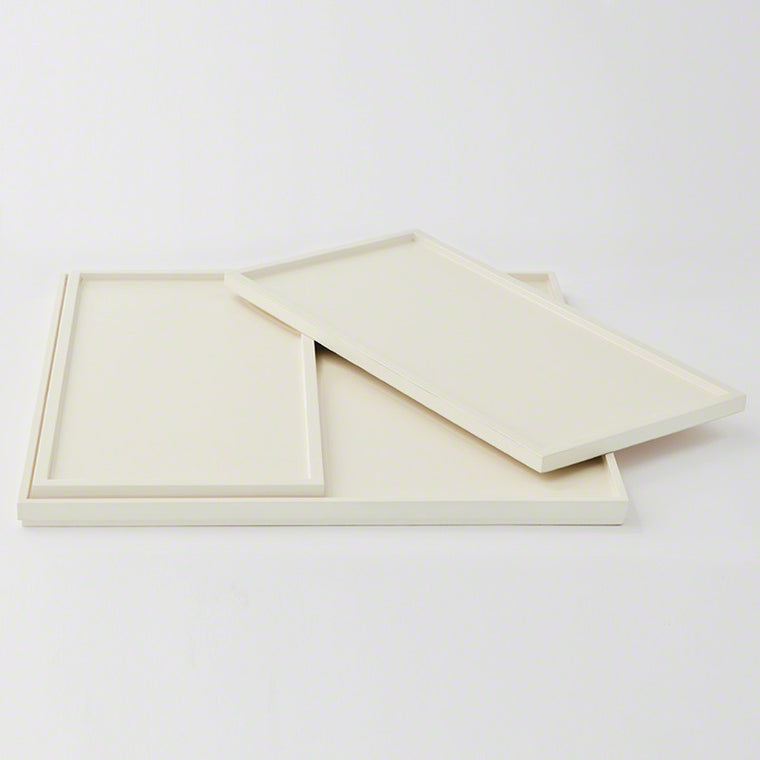 Barbara Barry S/3 Nesting Trays - Ivory Lacquer - Grats Decor Interior Design & Build Inc.
